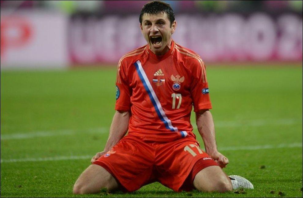 DRØMMESTART: Alan Dzagoev sørget for at Russland fikk en drømmestart på årets EM. Foto: Afp