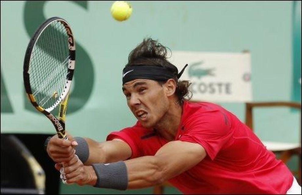 FINALEKLAR: Rafael Nadal er klar for finalen i Grand Slam-turneringen Roland-Garros. Foto: Reuters