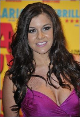 I SENTRUM: Imogen Thomas, en walisisk skjønnhet kjent fra blant annet Big Brother, skal ha hatt et forhold til Manchester United-spilleren Ryan Giggs. Foto: Theodore Wood, Camera Press, Scanpix