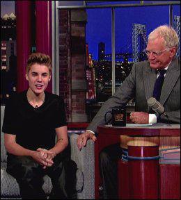 FÅ DEN VEKK: Letterman ba Bieber fjerne tatoveringen han fikk dagen før han gjestet TV-programmet. Foto: wenn.com