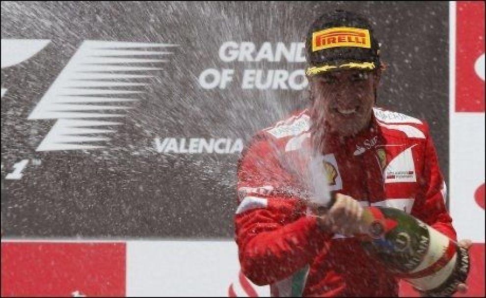 VANT: Fernando Alonso vant Europas Grand Prix. Foto: Reuters