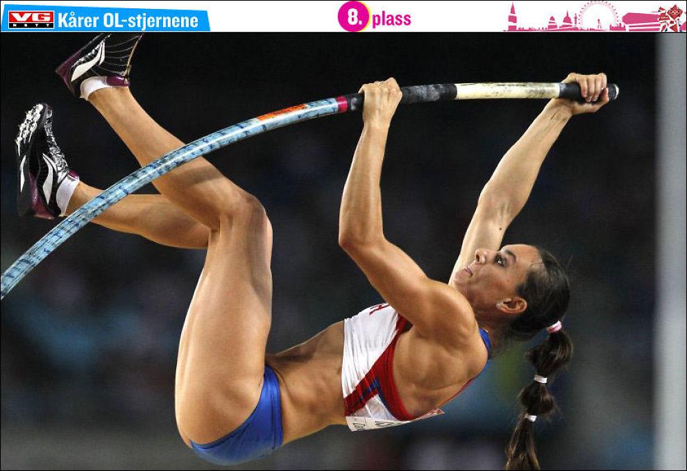 PÅ VEI TILBAKE: Jelena Isinbajeva under en konkurranse i Daegu i Sør-Korea i august 2011 Foto: Kin Cheung, AP