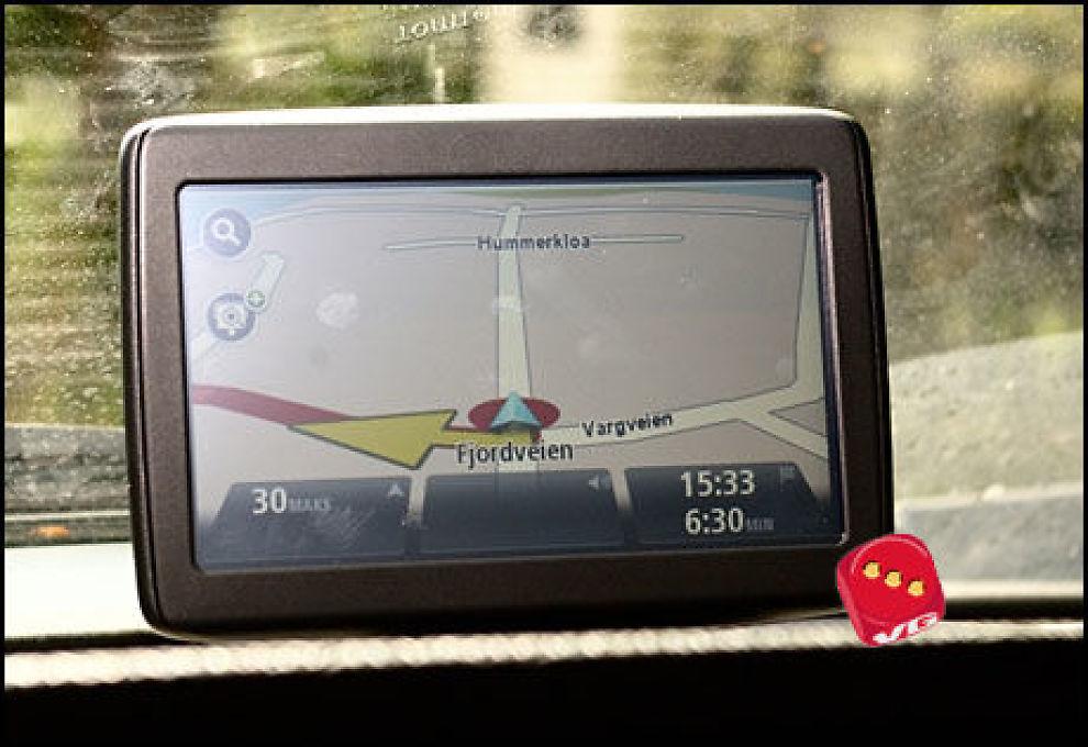 Her er det ingen nyheter i hvordan navigasjonsskjermen ser ut. Kartet kunne gjerne hatt mer topografi. (Foto: Einar Eriksen)