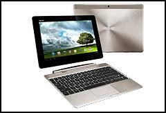 Asus Pad Infinity kan utvides med et tastatur som gjør om nettbrettet til en fullverdig bærbar PC. (Foto: Asus)