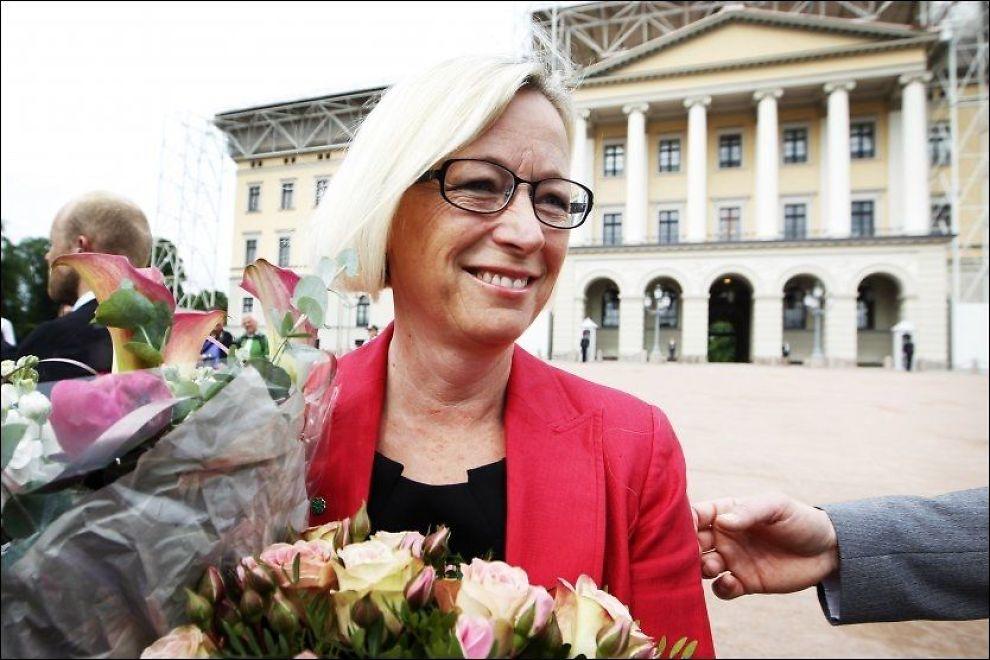 POPULÆR: Marit Arnstad ble utnevnt til samferdselsminister for en uke siden. Nå ligger hun best an til å ta over jobb som Sp-leder. Foto: Hakon Mosvold Larsen, AFP