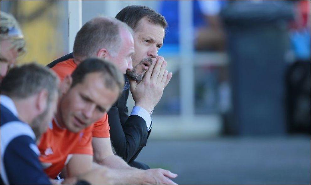 I TRØBBEL: De regjerende cupmesterne Aalesund fikk tøff motstand borte mot Sandefjord i cupens fjerde runde. Foto: Trond Reidar Teigen, NTB Scanpix