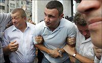 Bokse-Klitsjko skadet i voldelig demonstrasjon