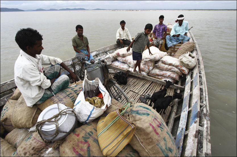 Seks millioner sendt på flukt fra flom i India