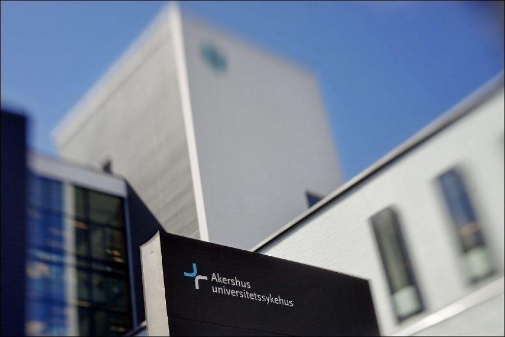 FÅR REFS: Fylkesmannen i Oslo og Akershus konkluderer med at driften på Akershus universitetssykehus (Ahus) på Lørenskog var så dårlig at den var til fare for pasientene. FOTO: Krister Sørbø, VG