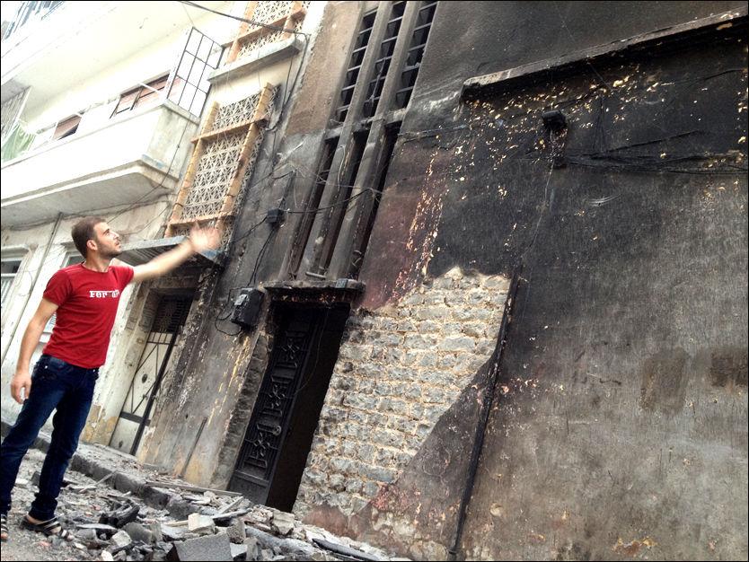 Eksklusivt: Se Syria-opprørernes egne bilder av ødeleggelsene