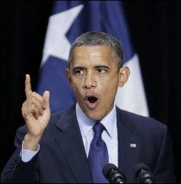 FORDØMMER: President Barack Obama raser mot de ansvarlige bak terrorangrepet. Her fra en tale tidligere i juli. Foto: AP Photo