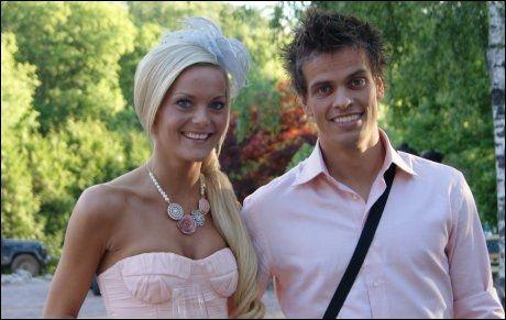 EKTEPAR: Kjendisblogger Caroline Berg Eriksen (24) får støtte fra fotballektemannen Lars Kristian Eriksen (27). Foto: PRIVAT