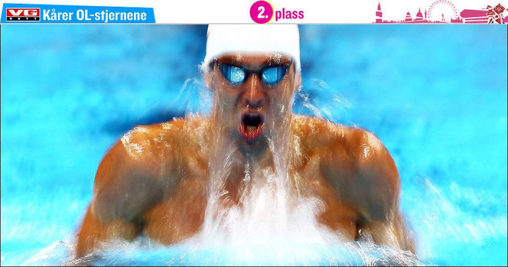 PÅ VEI MOT OL: Michael Phelps viste under den amerikanske OL-kvalifiseringen at han er i god form og kan bli en av de store profilene i årets OL. Foto: Afp/ Al Bello