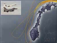 Slik flyr russerne langs norskekysten