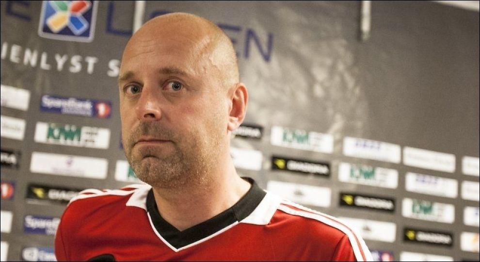 VEMODIG: FFK-trener Trond Amundsen var fattet etter tapet mot Strømsgodset. Han tror de møtte årets seriemester. Foto: Audun Braastad, NTB Scanpix