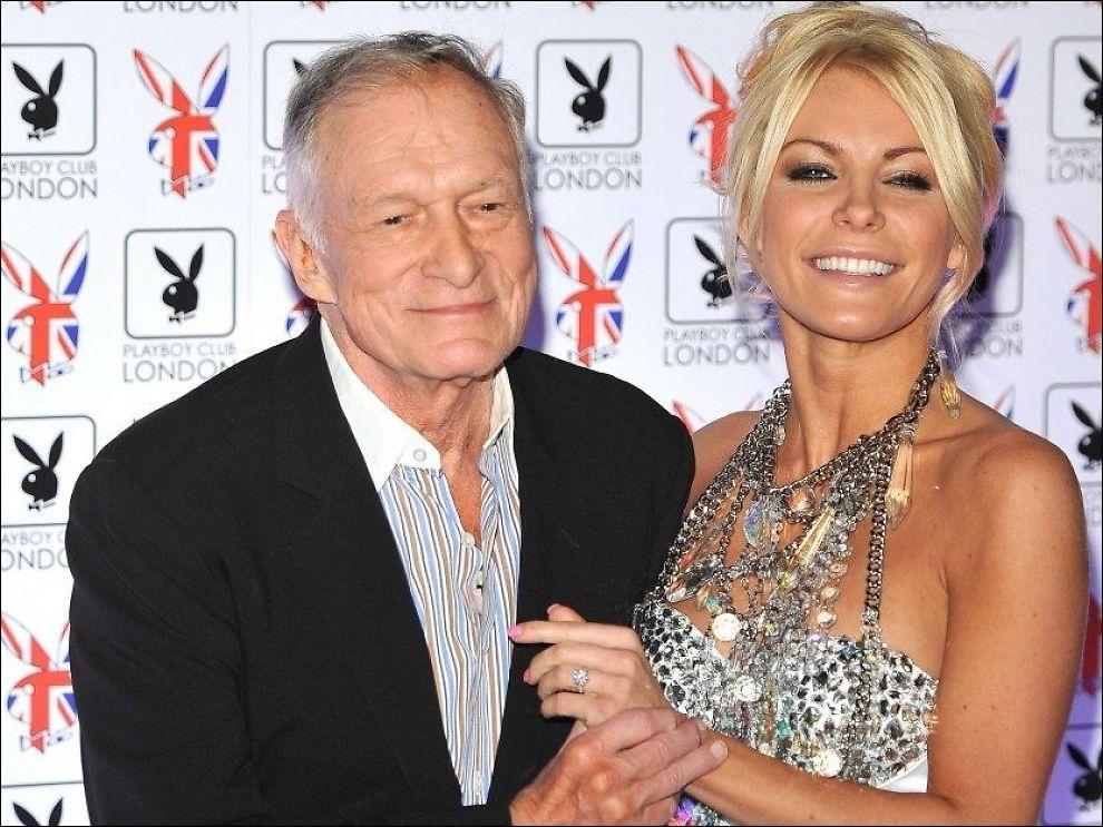 AV OG PÅ: Hugh Hefner har vært sammen med Crystal Harris før, men hun brøt forlovelsen i 2011. Nå skal de to være sammen igjen. Foto: Wenn.com