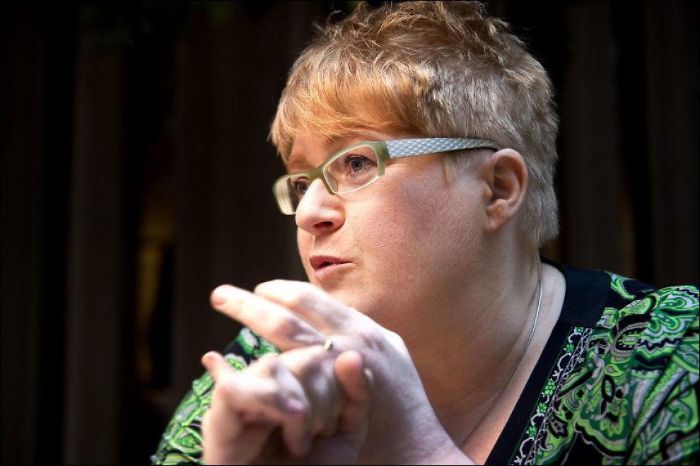 - VIRKNINGENE AV SOSIAL KRISE: Venstres leder Trine Skei Grande mener romfolk-debatten som raser i Norge er et glimt av den sosiale krisen i Sør-Europa. Foto: Espen Braata/VG