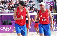 Norsk OL-avansement for sandvolleyball-gutta