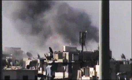 BOMBET: Assads militære utførte flere bombetokt i byen Aleppo (bildet) og mange mistet livet i forrige uke. Foto: Ap