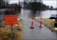 NVE varsler oversvømmelser i Agder og Telemark