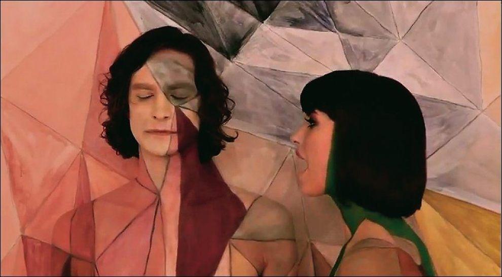 ÅRETS VIDEO: Musikkvideoen til «Somebody That I Used To Know» er nominert til «Årets video» under MTV Video Music Awards. Her er Gotye sammen med Kimbra i videoen. Foto: UNIVERSAL MUSIC/YOUTUBE.