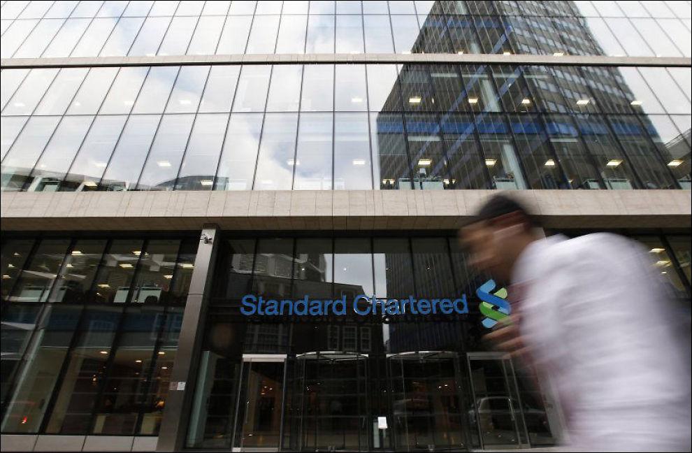 STANDARD CHARTERED: Amerikanske myndigheter beskylder banken Standard Chartered for å ha holdt store transaksjoner med Iran hemmelig. Foto: Reuters / NTB scanpix