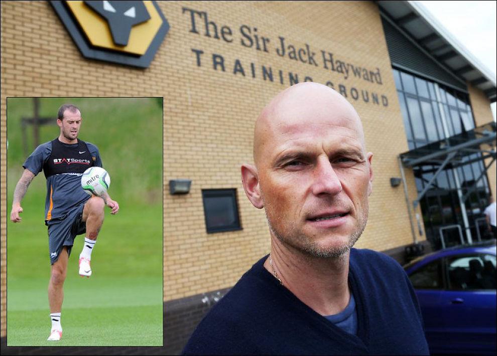 OVERGANGSKRAV: Steven Fletcher (innfelt) har levert overgangskrav til Wolverhampton og Ståle Solbakken. Foto: Erik Johansen / NTB scanpix og Sam Bagnall/AMA