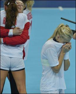 GLEDES TÅRER: Linn Jørum Sulland klarte ikke holde tårene tilbake da OL-gullet var sikret. Foto: Bjørn S. Delebekk, VG