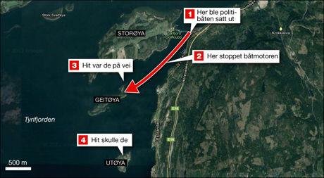 FEIL ØY: I kommisjonsrapporten som legges frem i dag avsløres det at Delta trodde de skulle til Geitøya, ikke til Utøya. Foto: Grafikk: Tom Byermoen