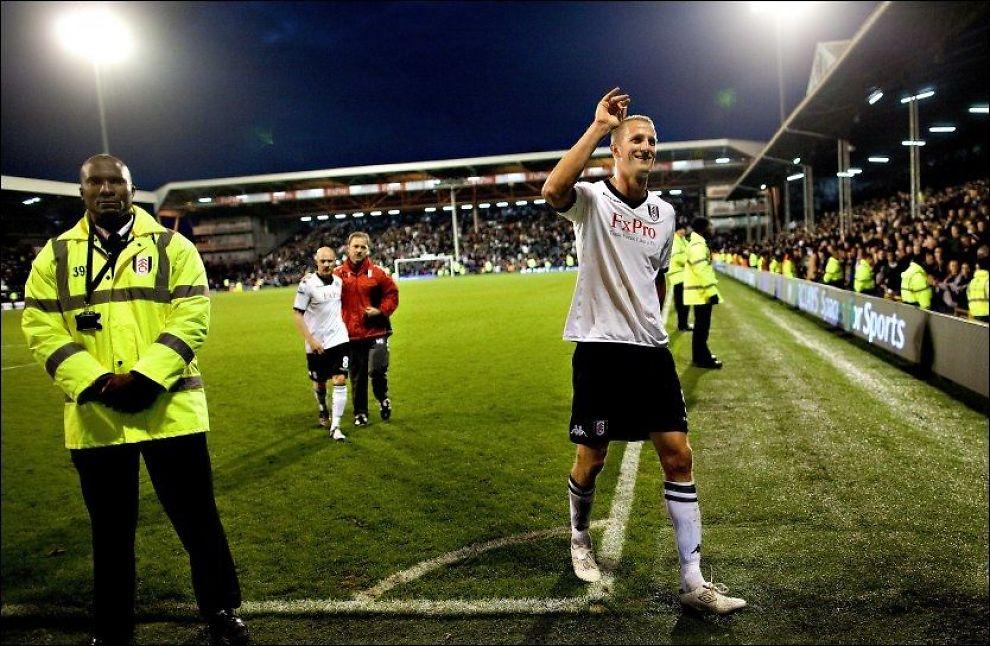 BLIR TØFFERE: Brede Hangland etter en kamp mot Aston Villa i 2010. Han mener nivået i Premier League er høyere nå. Foto: Fredrik Solstad, VG