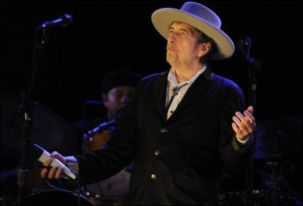 HOLDER KOKEN: Bob Dylan. Foto: AFP
