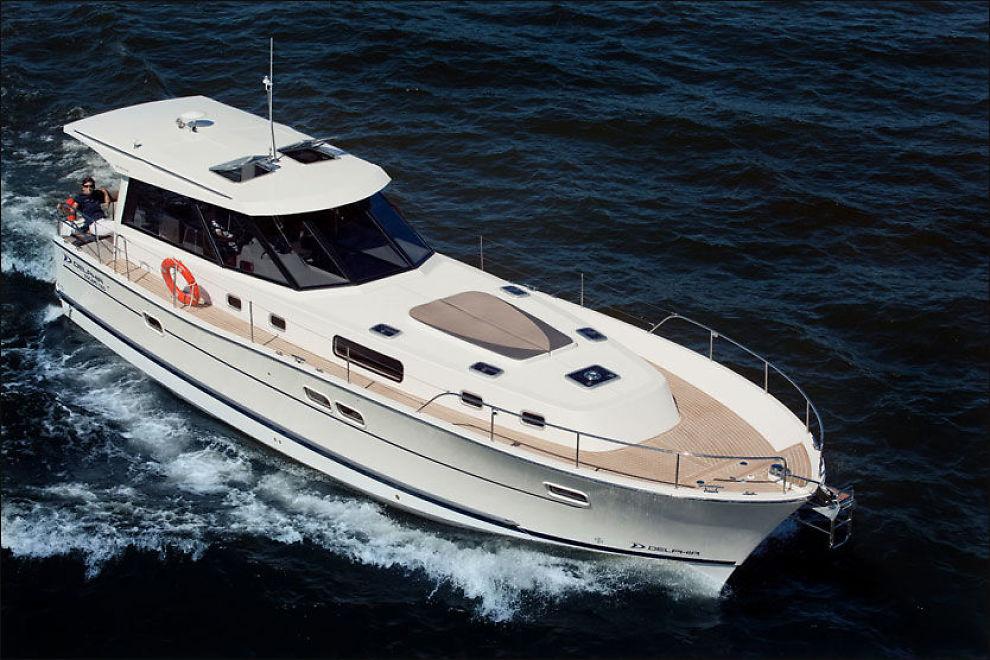MYE BÅT: Delphia 1350 Escape har nylig seilet inn i norske farvann og vises allerede torsdag på Båter i Sjøen i Sandvika. Foto: Produsent