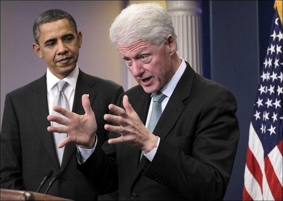 HÅPER PÅ VELGERE: Tidligere president Bill Clinton skal i tall på talerstolen og forsøke å engasjere demokratene på vegne av Barack Obama. Foto: J. SCOTT APPLEWHITE, AP
