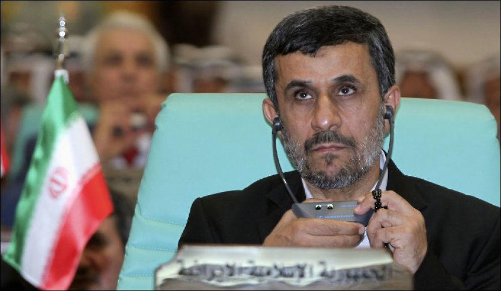 NYTT ANGREP: Irans president Mahmoud Ahmadinejad er kjent for sin antiisraelske og antivestlige retorikk. Foto: Susan Baaghil / Reuters / NTB scanpix