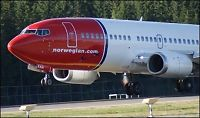 Nærkontakt mellom to Norwegian-fly