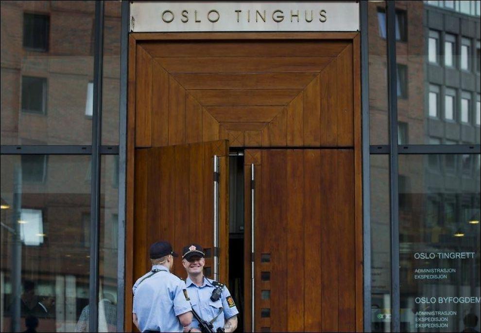 GIGANTSAK: Store og kompliserte saker, som 22. juli-rettssaken ved Oslo tingrett, har aktualisert debatten om en reduksjon av domstolene. Foto: NTB SCANPIX
