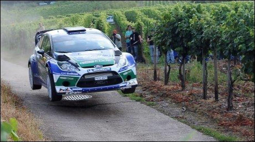 NUMMER TRE: Petter Solberg ble nummer tre i Rally STorbritannia. Foto: Ap