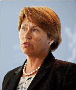 OVERTOK: Grete Faremo var forsvarsminister under terrorangrepet mot regjeringskvartalet og Utøya 22. juli i fjor, men tok over som justisminister etter Knut Storberget 11. november 2011. Foto: NTB scanpix