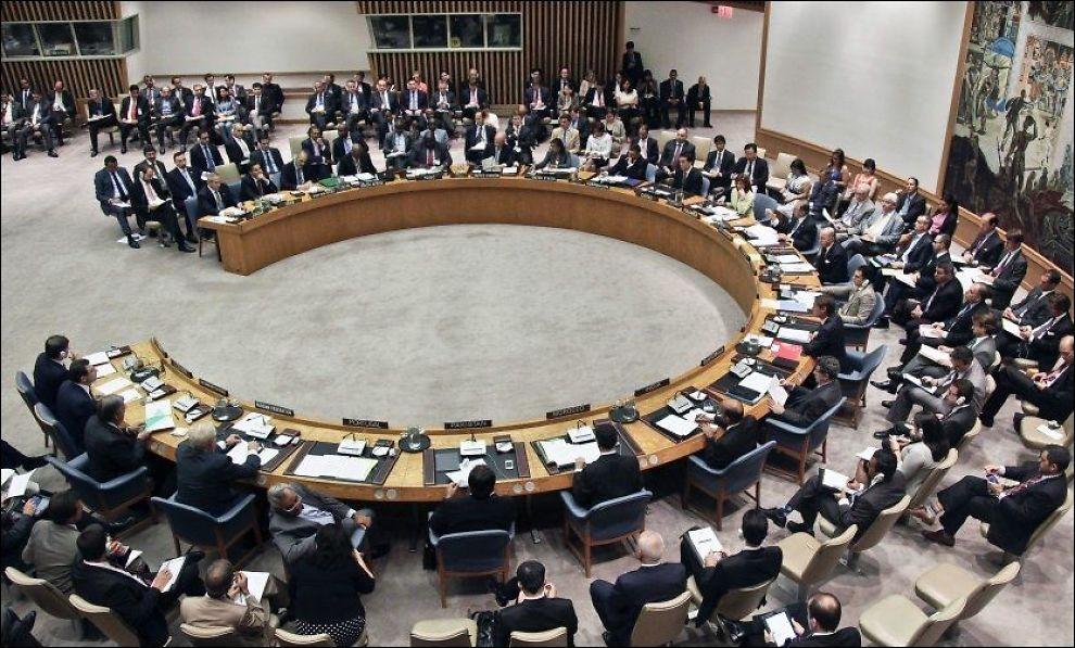 KLART FOR REFORM: Den norske regjeringen mener FNs sikkerhetsråd er modent for en reform. Rådet har fått mye kritikk for å ikke ha kommet fram til noen resolusjon etter at borgerkrigen i Syria brøt ut i fjor. Her er rådet samlet 30. august i år for å diskutere et tyrkisk resolusjonsforslag om Syria. FOTO: AP