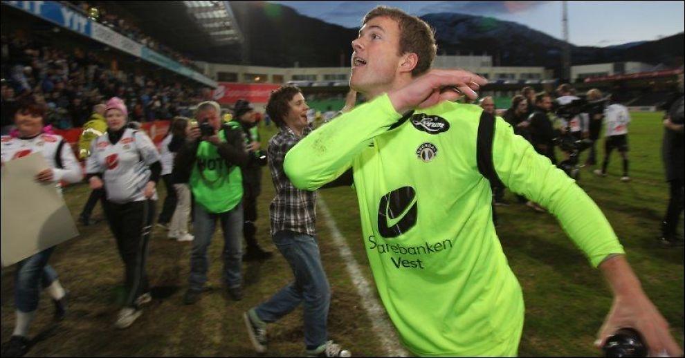 ANGREPSVILLIG: Kenneth Udjus etter seieren over Molde i vår. Foto: Alf Vidar Snæland / NTB scanpix