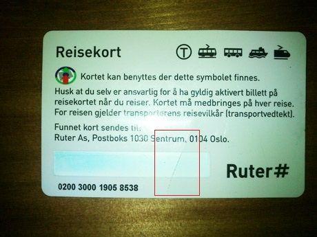 Ruter fylle på reisekort