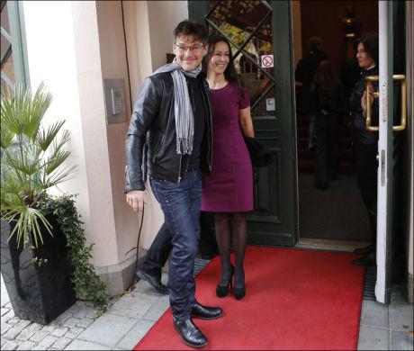 FORLEGEN: Morten Harket (52) kom sammen med sin kjæreste Inez Anderson (48) til dagens tildeling av St. Olavs Orden. Foto: Terje Bringedal