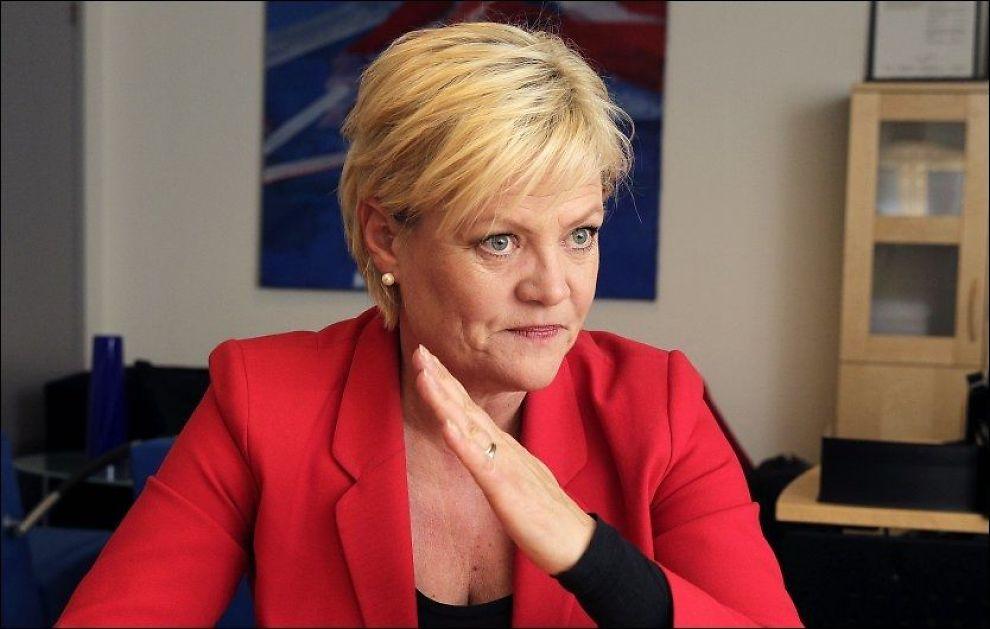 SIER STOPP: Kunnskapsminister Krisin Halvorsen vil endre loven for å stoppe fremveksten av montessoriskoler. Foto: TROND SOLBERG