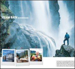 STEAM BATH på norsk. kampanje for å selge Norge i utlandet. Innovasjon Norge og Try reklamebyrå.