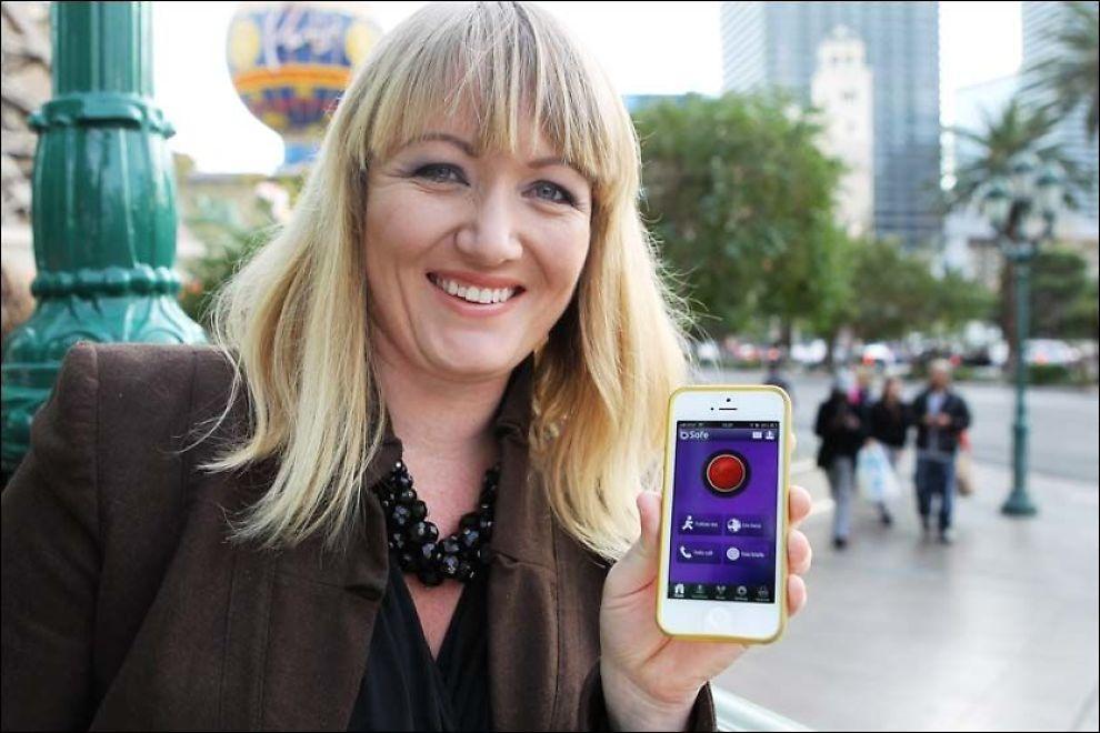 PRISVINNER: Silje Vallestad er kvinnen bak trygghets-appen bSafe, som nå hedres med en amerikansk fagpris. Foto: ØYVIND ENGAN