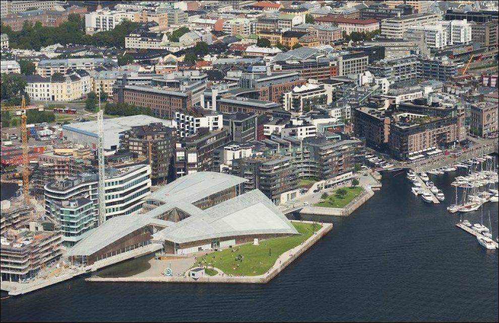 BLIR LAGT MERKE TIL: Fornyelsen av Oslos havneområde får stor oppmerksomhet i New York Times omtale av byen som et ettertraktet reisemål i 2013. Foto: Nic Lehoux