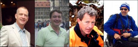 TIDLIGERE BEKREFTET DREPT: Fra venstre: Tore Bech (58), Thomas Snekkevik (35), Hans M. Bjone (55) og Alf Vik (43). Foto: Privat / STATOIL/NTB scanpix / STATOIL/NTB scanpix / Privat/NTB scanpix