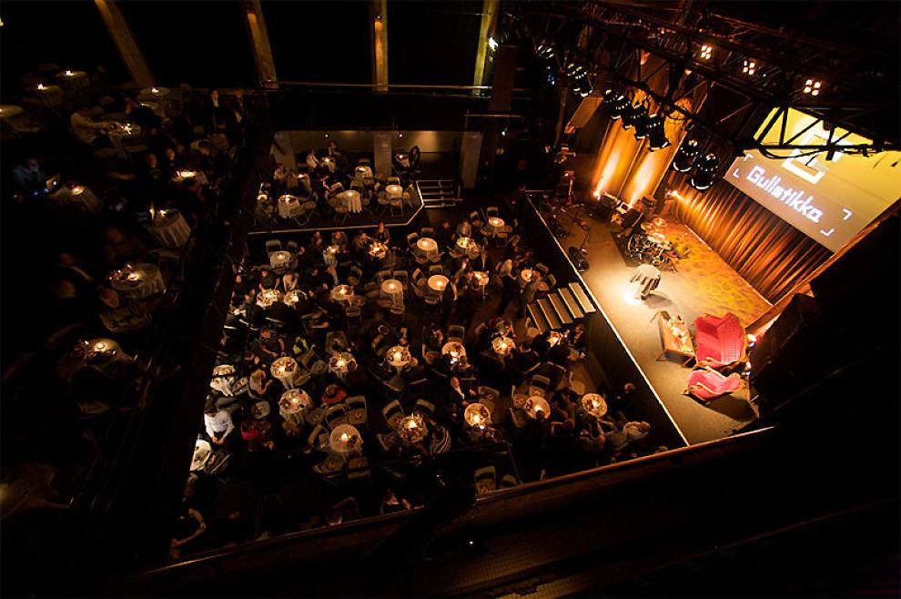BRANSJEFEST: Gullstikka har blitt arrangert flere steder i Oslo de siste ti årene, blant annet på Rockefeller. Bildet er fra Gullstikka 2008. Foto: VIKTOR JÆGER/GULLSTIKKA