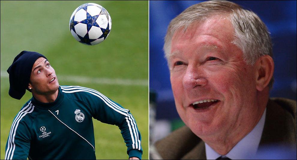 NYTT MØTE: Alex Ferguson var mannen som hentet uferdige Cristiano Ronaldo fra Portugal og gjorde ham til en stjerne. Nå møtes de to igjen på Old Trafford. Foto: Andrew Yates, Afp/ Darren Staples, Reuters