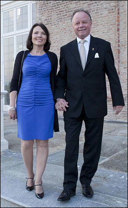PÅ REISE: Ekteparet Ingrid og Øyvind Halleraker under Asecap-dagene i Torino i Italia i fjor. Foto: Marco Ferrero/Maofilm